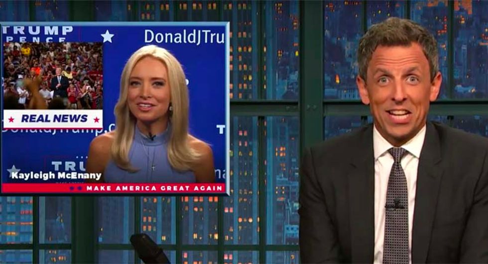 'State news crossed with a school announcement': Seth Meyer's mocks Kayleigh McEnany's Trump News gig