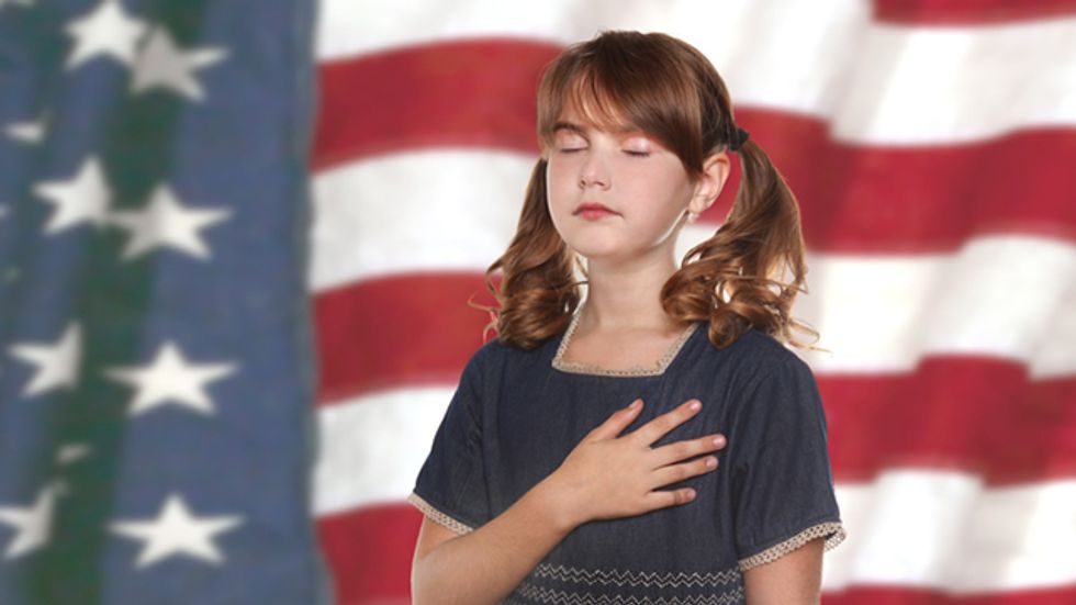 Atheists slam school nurse for refusing to treat student who won't stand for Pledge of Allegiance