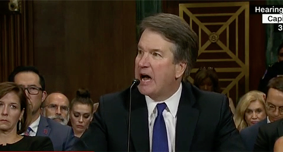 Internet rips apart Kavanaugh's weepy address at sexual assault hearing:  'He's crying because he is guilty'