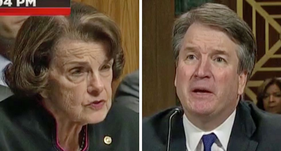 Brett Kavanaugh loses it and yells at Dianne Feinstein when asked why he didn't request an FBI investigation