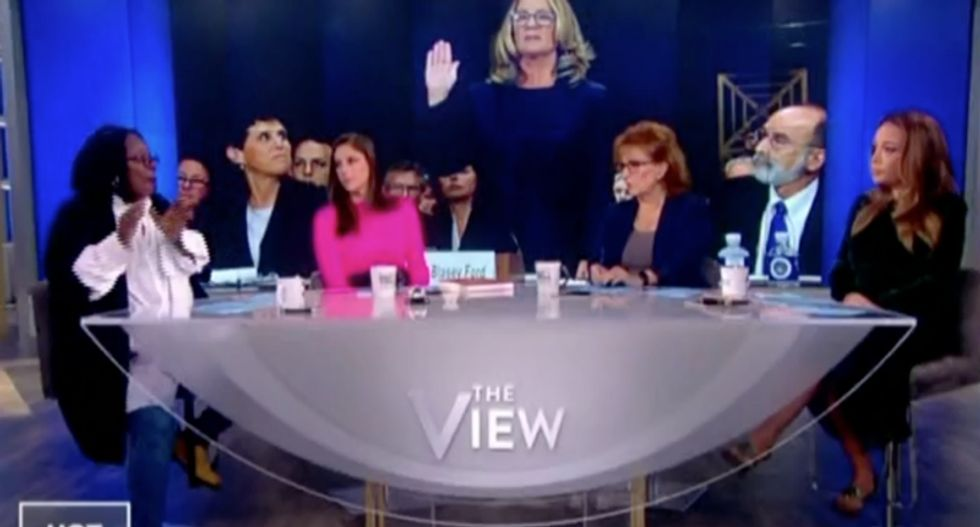 The View panel blows up on Kavanaugh for throwing temper tantrum during sex assault testimony