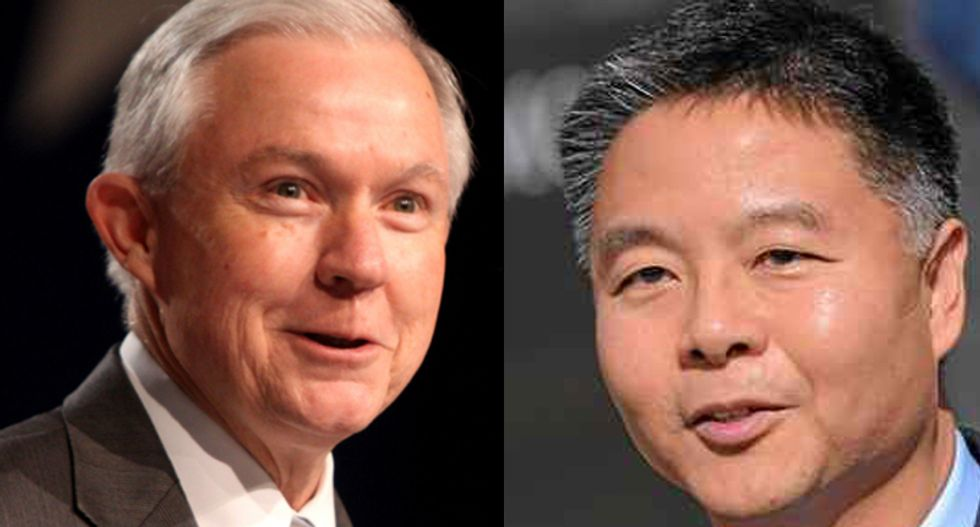 Rep. Ted Lieu shreds 'illegitimate' Jeff Sessions over threat to cut funds for sanctuary cities