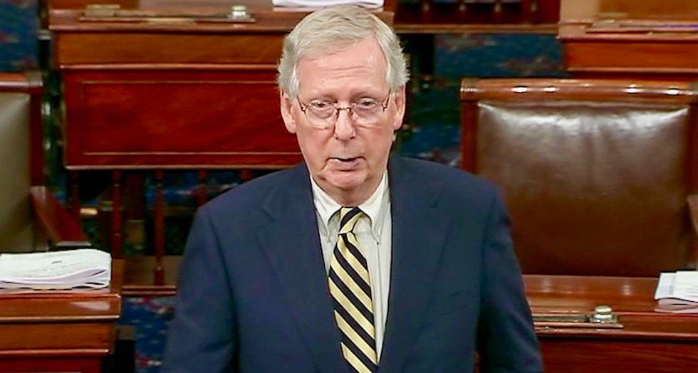 Mitch McConnell goes on Senate floor to assure Trump that Kavanaugh is going forward
