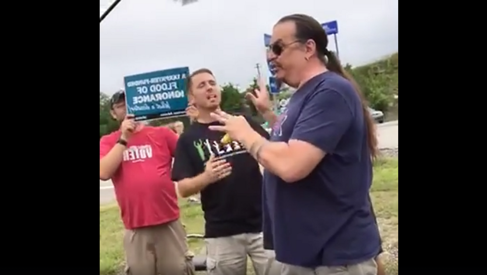 WATCH: Creationist debates an atheist on evolution outside Ark museum -- and gets utterly humiliated