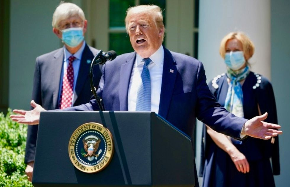 Trump hopes for COVID-19 vaccine by end of year, 'maybe before'