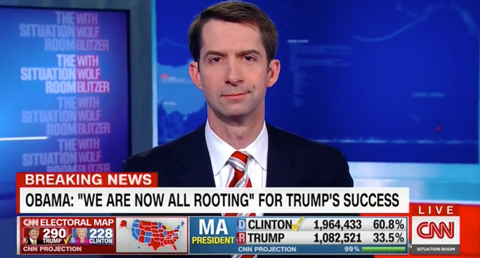 Tom Cotton: I 'strongly support' going forward with Trump's wall and forcing cities to turn over immigrants