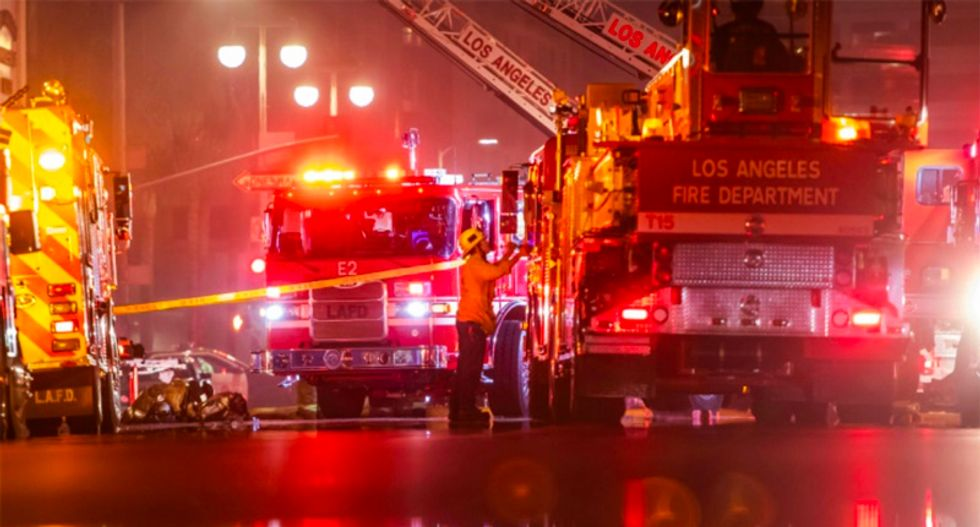 11 firefighters injured in Los Angeles battling blaze