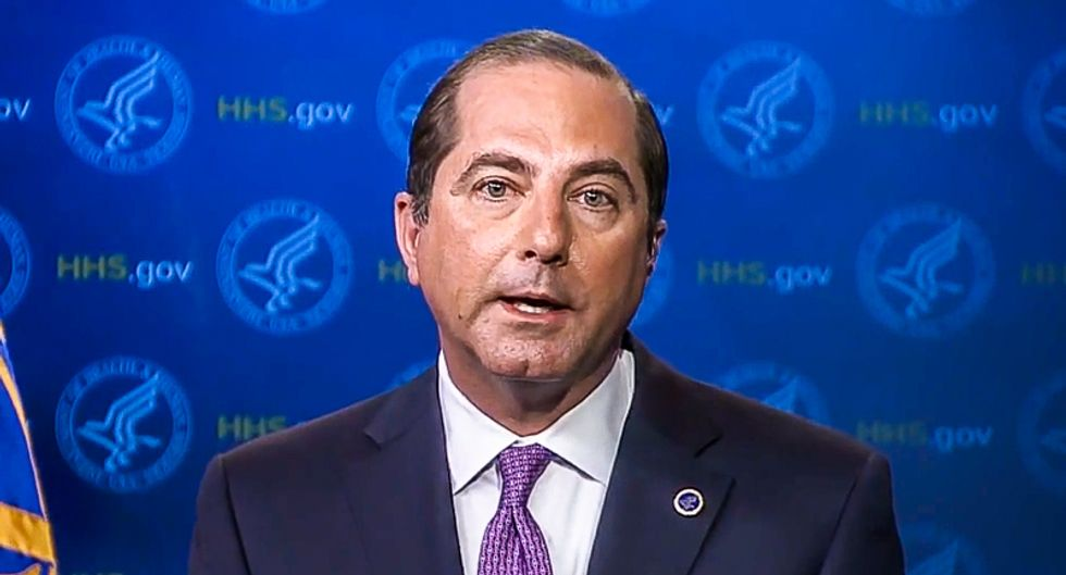As COVID-19 infections increase on Capitol Hill, HHS Secretary Azar says public health protocols don't apply to president's inner circle