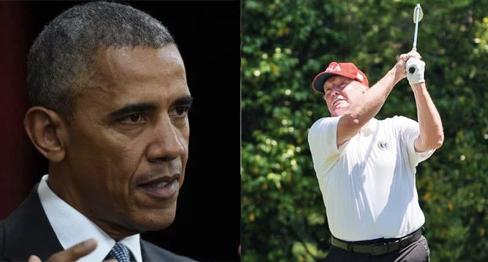 Trump interrupts PGA to blame Obama for the COVID-19 crisis