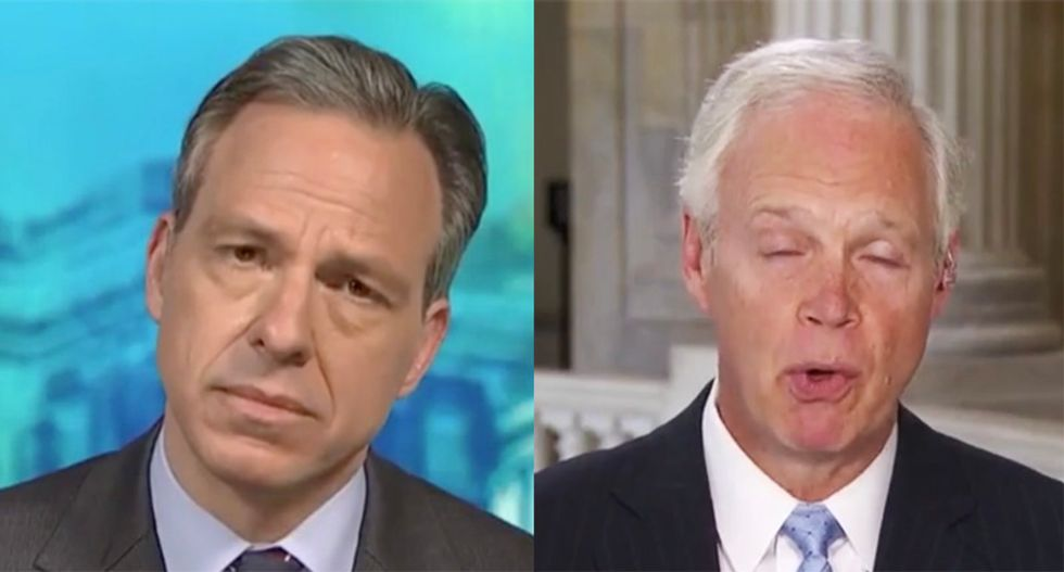 CNN's Tapper forced to shut down and fact check GOPer Ron Johnson during Russia conspiracy rant