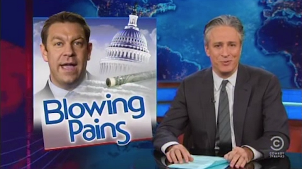 Stewart on coke-sniffer Rep. Trey Radel: Being a hip-hop conservative just as ridiculous as being a 'smooth-jazz anarchist' or a 'disco Nazi'