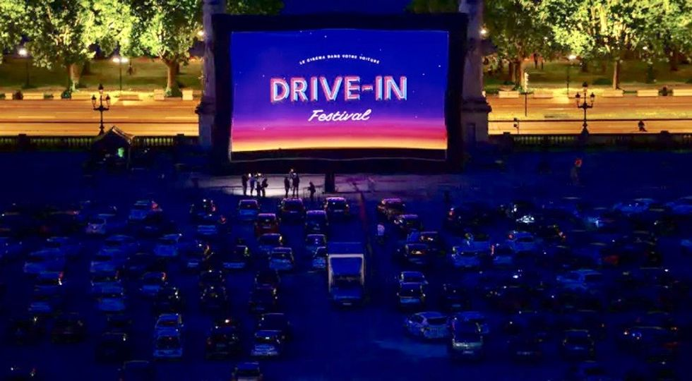 French cinemas get heated over lockdown drive-in