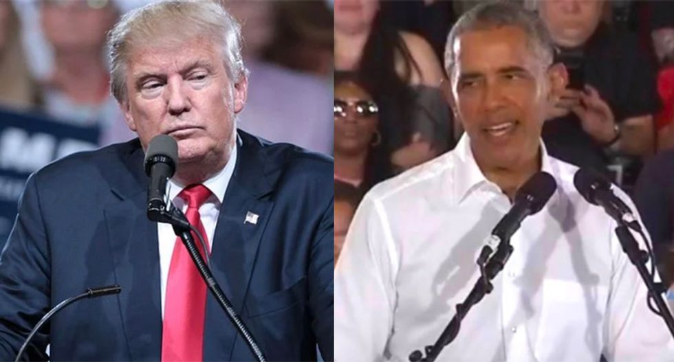 Obama mocks Trump for complaining he had to go to Pennsylvania and beg for their vote