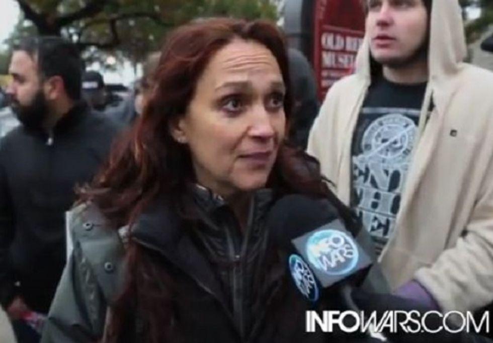 Vivian Kubrick, reclusive daughter of film great Stanley, turns up at anti-government Alex Jones rally