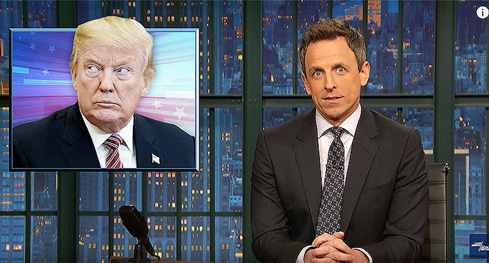WATCH: Seth Meyers recreates America's fight for independence through the lens of Donald Trump