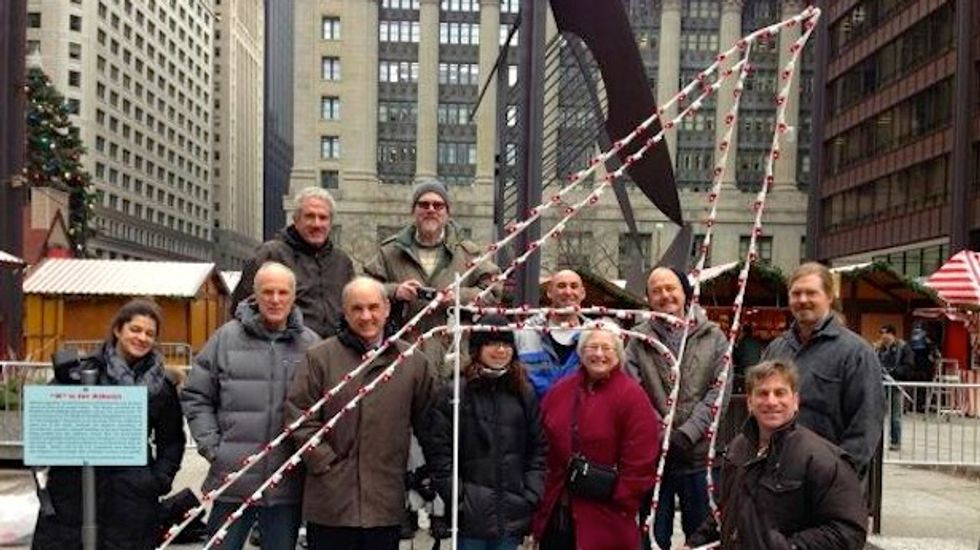Atheist group sets up Chicago display protesting Christmas scene and celebrating Bill of Rights