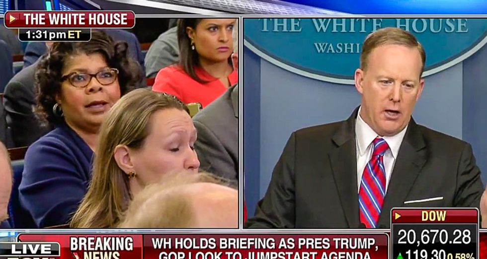 Sean Spicer implodes at briefing: 'If the president puts Russian dressing on his salad it's a connection'