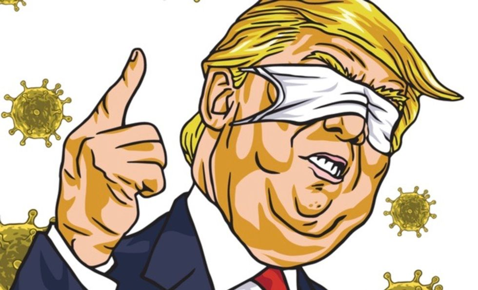 On Trump, masks and masculinity: What the president's bare face really reveals