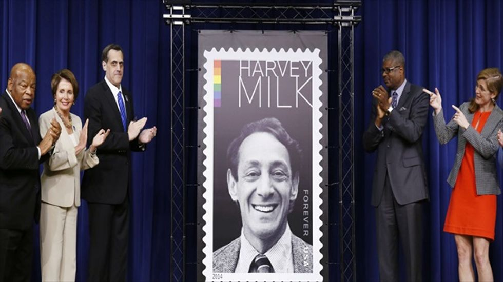 Slain gay rights activist Harvey Milk honored with his own postage stamp