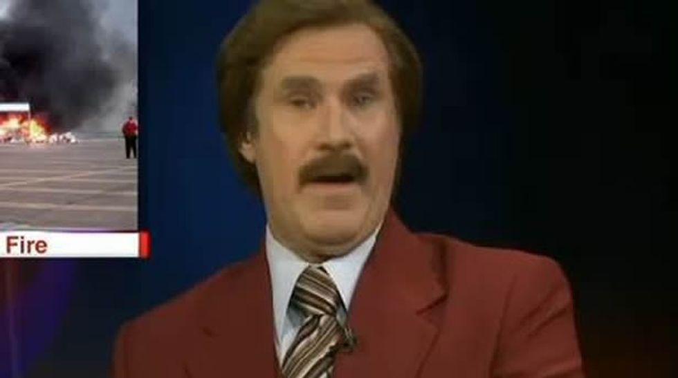 WATCH: Will Ferrell plays 'Ron Burgundy' on a local North Dakota station's nightly newscast