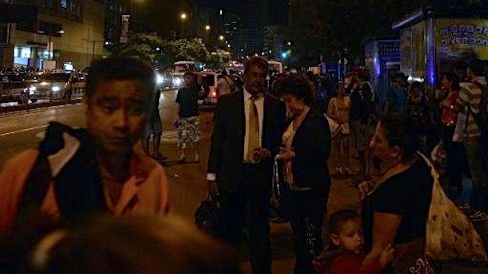 Venezuelan cities plunged into darkness by power cut during president's speech