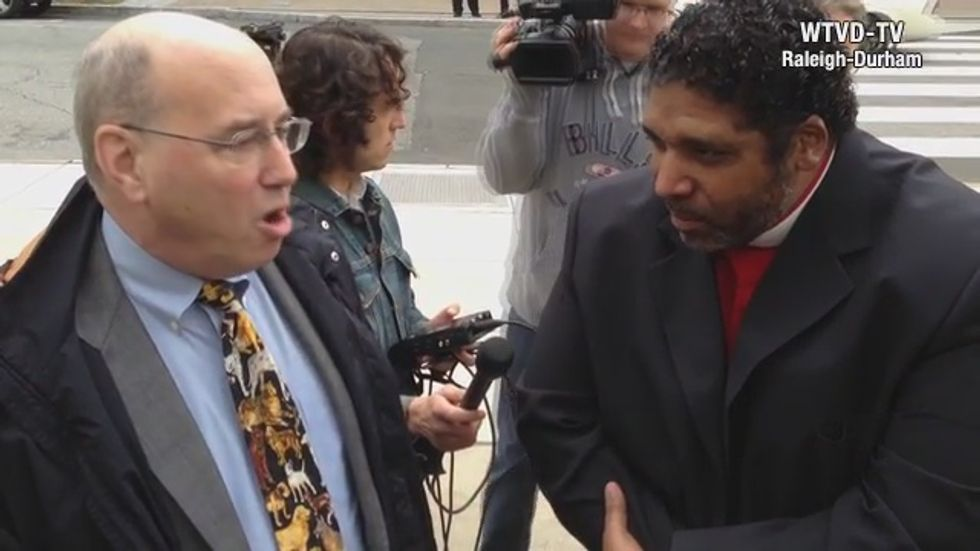 Watch NAACP leader confront Koch ally about 'worst policies since Jim Crow' in North Carolina