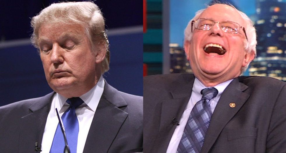 'False': CNN smacks down Trump claim they cut off Bernie Sanders for calling them 'fake news'
