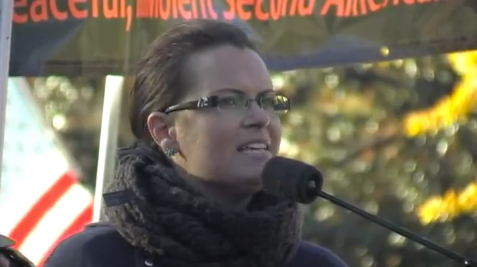 Tea party activist says U.S. may be conquered for allowing atheists, Wiccans and abortion