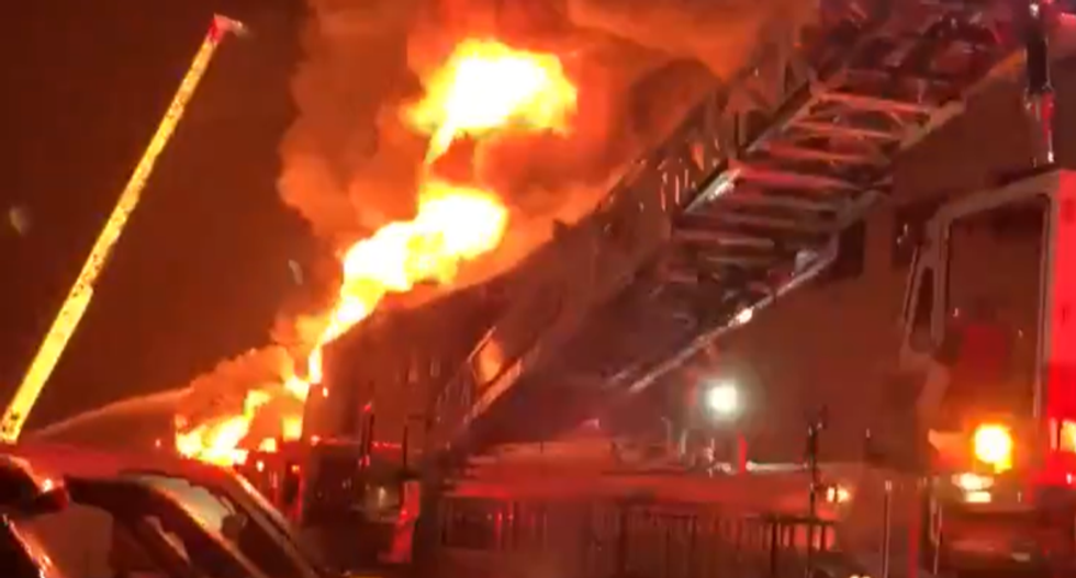 WATCH: San Francisco firefighters struggle to control blaze at Fisherman's Wharf