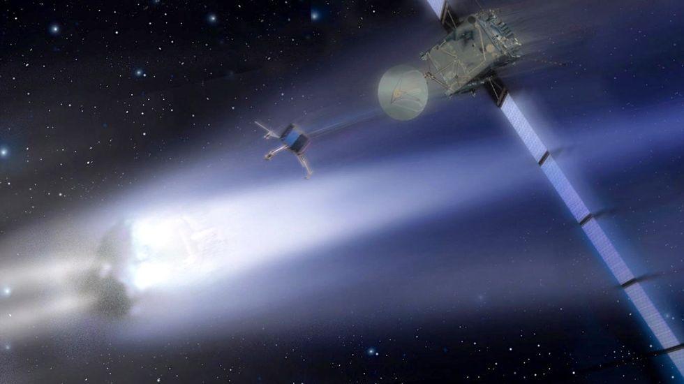ESA's 'Rosetta' spacecraft on track for historic January 2014 comet landing