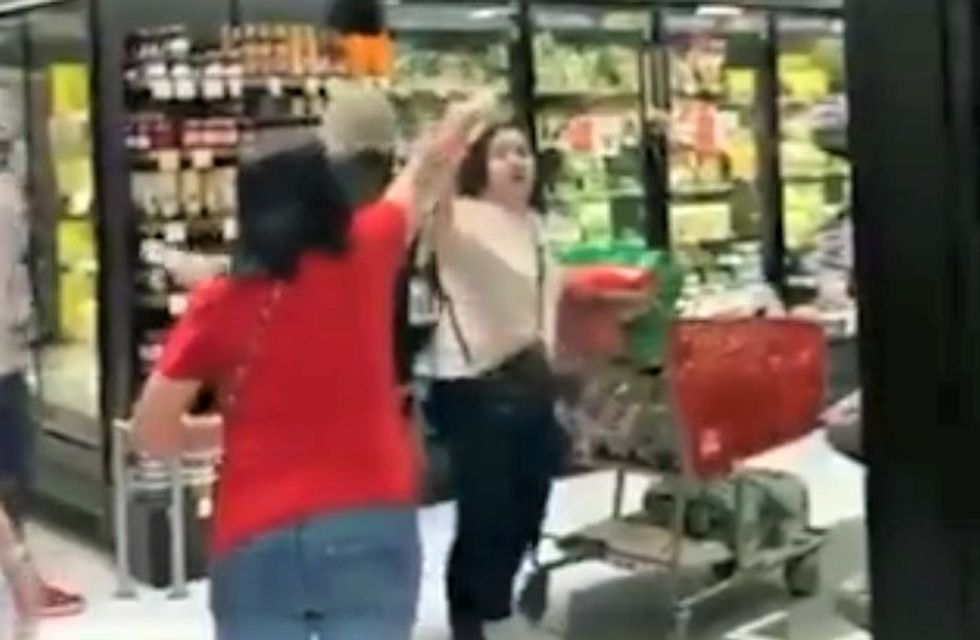 WATCH: Staten Island grocery shoppers drive out woman who refuses to wear a mask in the store