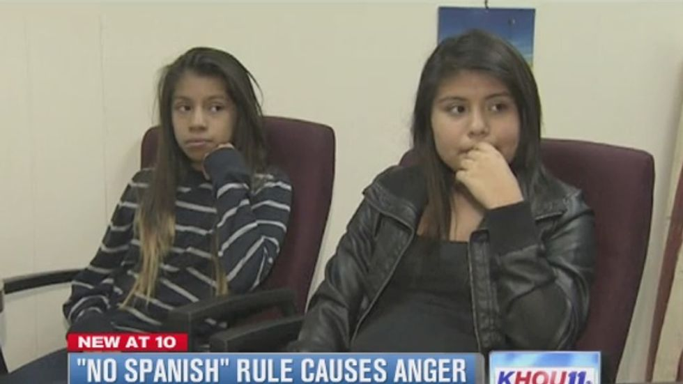 Texas principal bans Hispanic students from speaking Spanish to 'prevent disruptions'