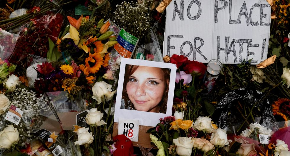 Tears and tributes at Virginia memorial for Heather Heyer