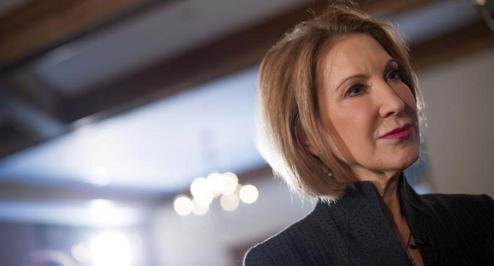 Republican Carly Fiorina says she would neutralize Hillary Clinton's 'gender card'