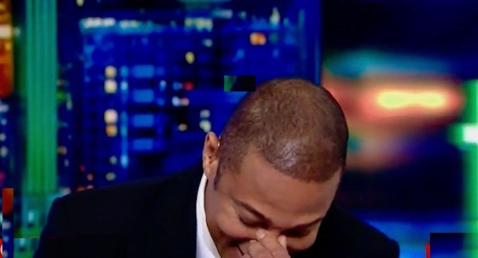 CNN's Don Lemon is shaking he's laughing so hard at the duped Georgia legislator