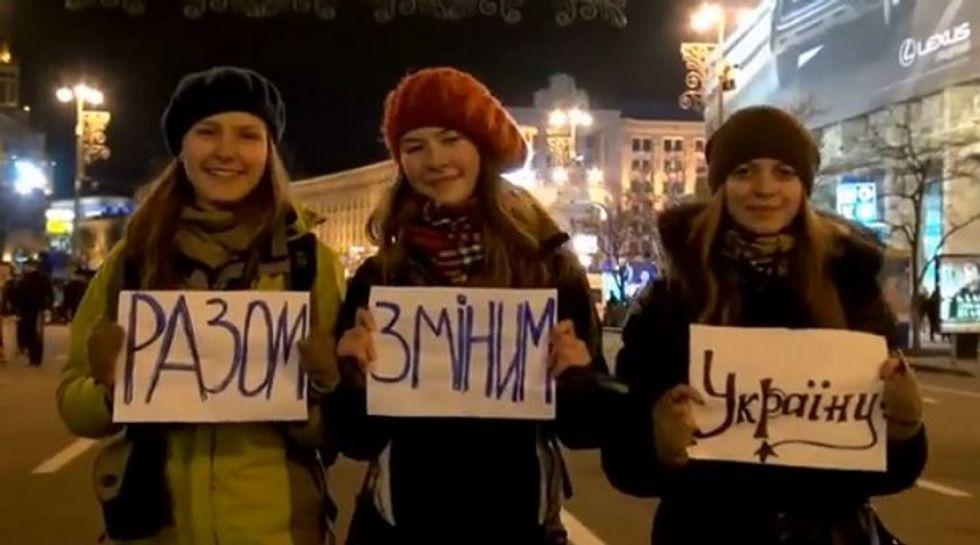 Scenes from Ukraine you aren't seeing on American TV