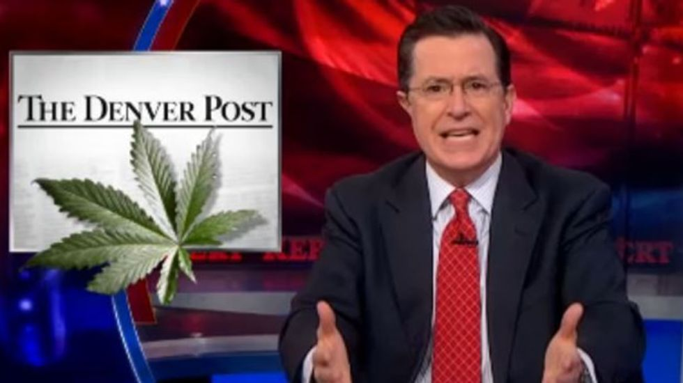 Stephen Colbert on pot and gay marriage: 'You put anything in your mouth' with munchies