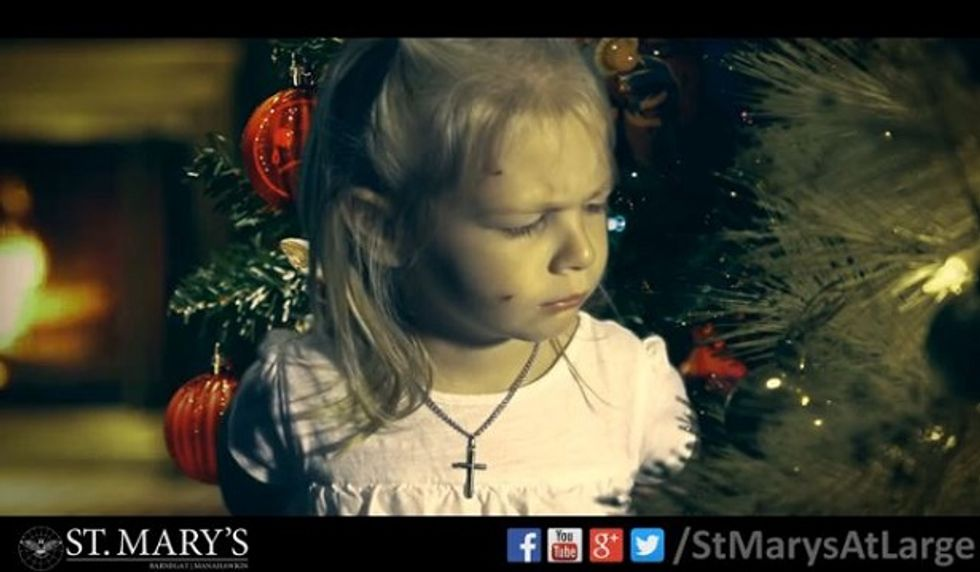 """Can you make sense of a bizarre """"War on Christmas"""" ad airing on MSNBC?"""