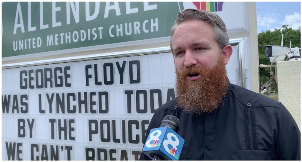 'George Floyd was lynched': Church sign blasts white supremacy as 'the most dangerous virus'