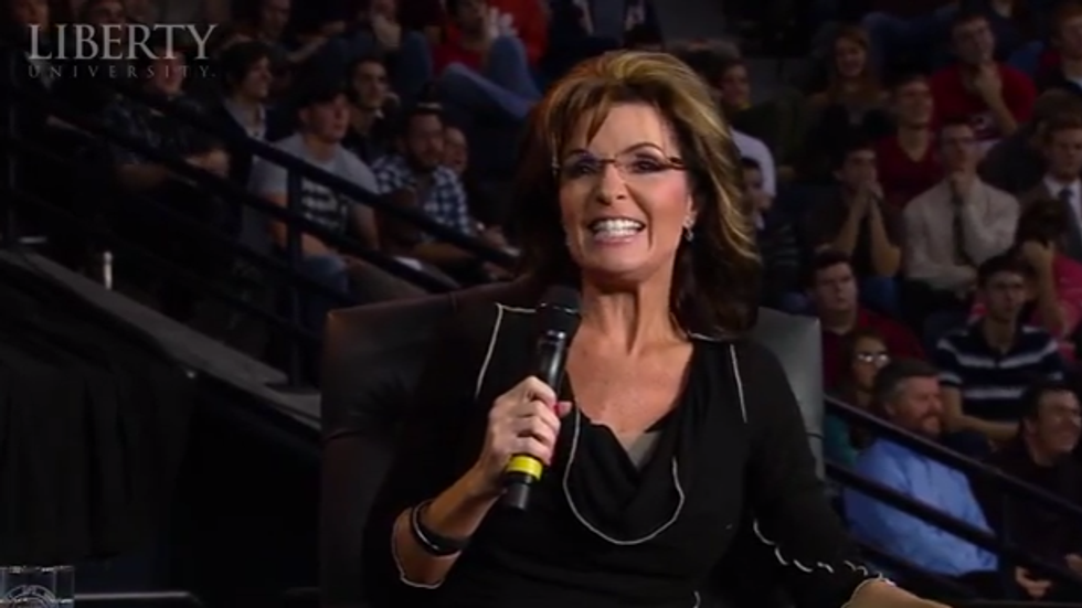 Sarah Palin tells NRA attendees: 'Waterboarding is how we baptize terrorists'