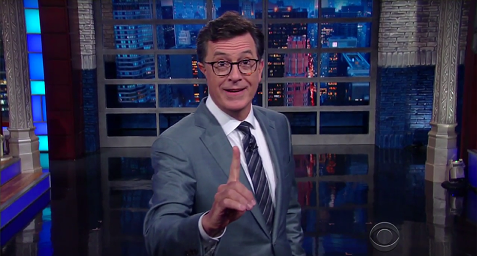 Colbert: 'Genius' Trump can fix our tax code the same way 'only Hannibal Lecter can catch Buffalo Bill'