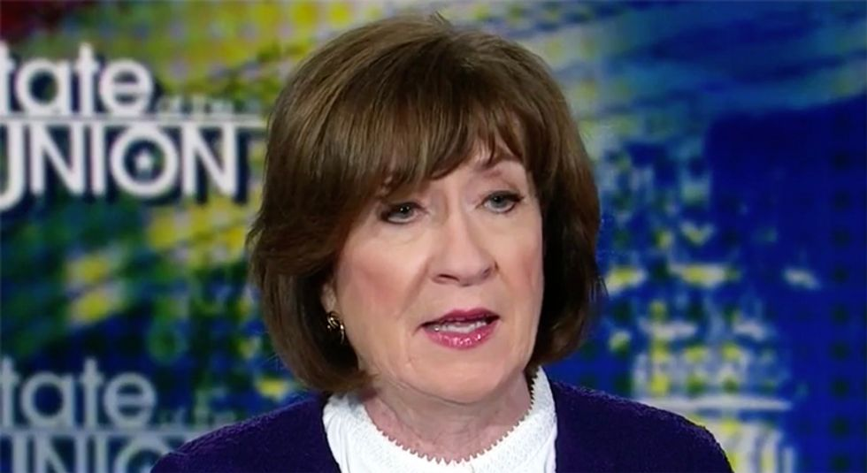 Susan Collins gets some very bad news from a Maine newspaper