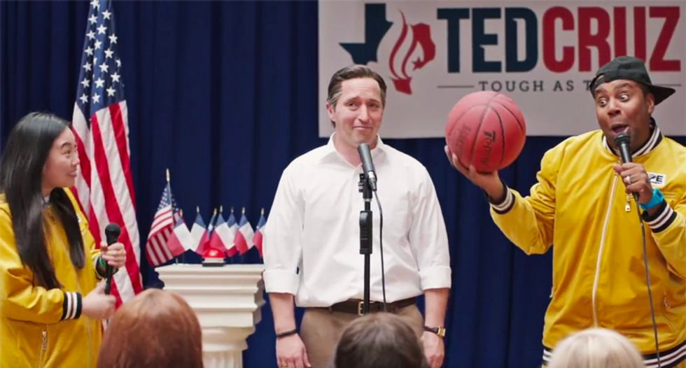 WATCH: SNL's Ted Cruz tries to 'out-cool' Beto O'Rourke with hilariously awkward hip-hop campaign rally