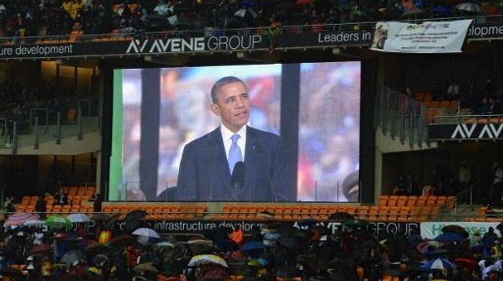 Watch: In eulogy, Obama calls Nelson Mandela 'a giant of history'