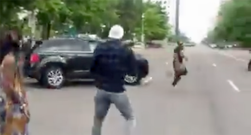 WATCH: Driver of black SUV tries to run down George Floyd protester in Colorado