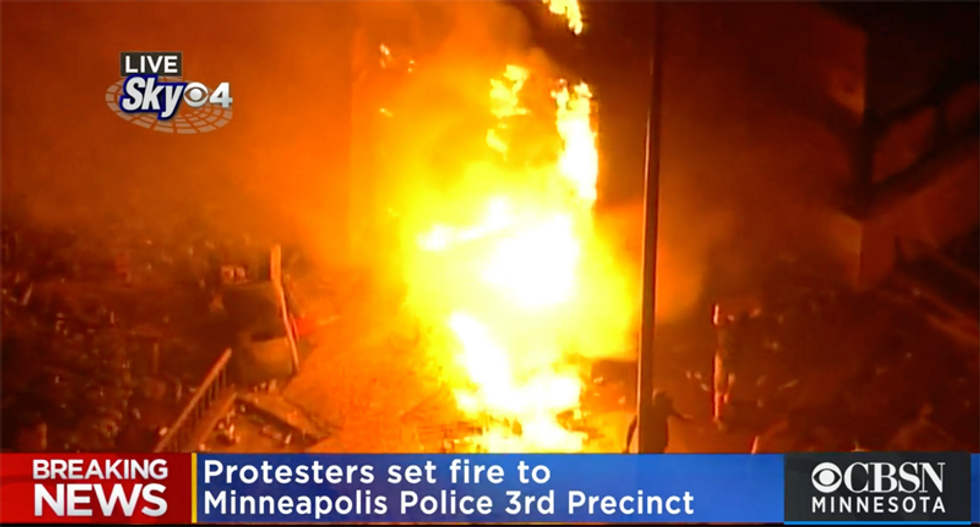 WATCH: Minneapolis police station burns after protesters reportedly seize the building