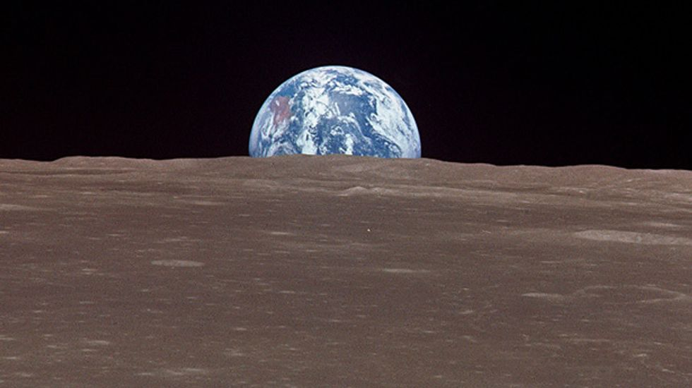 Lunar rocks suggest the Moon was created after a violent collision with Earth