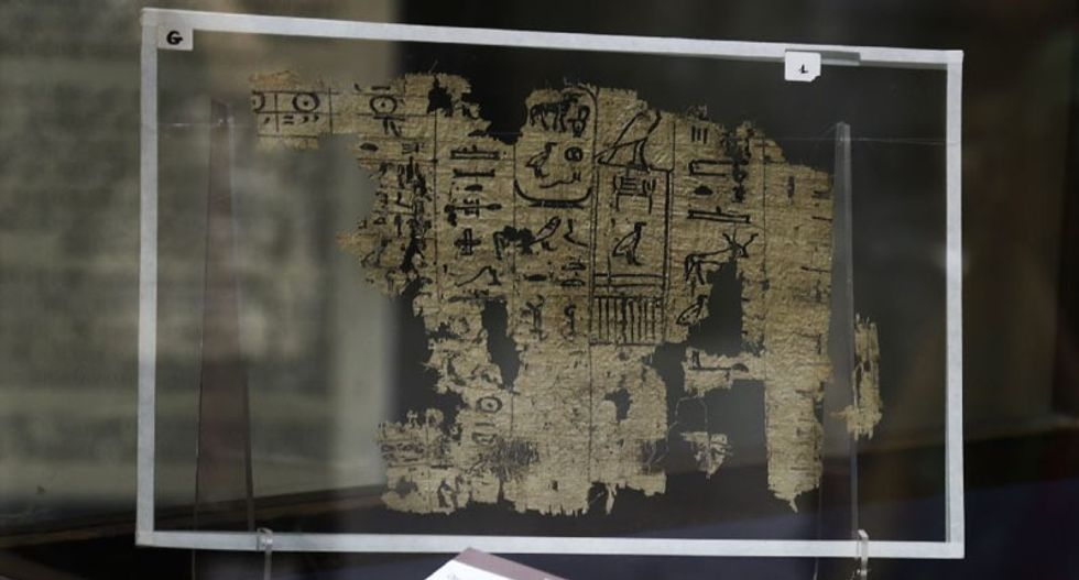 Oldest Egyptian writing on papyrus displayed for first time