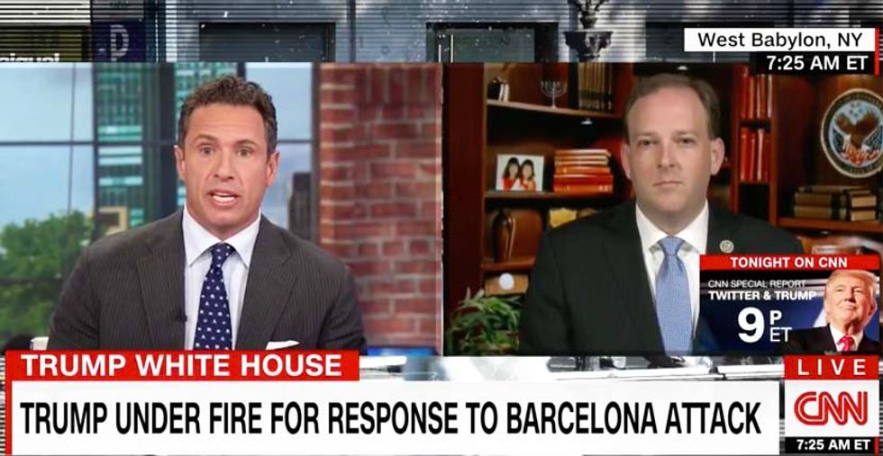 'You're burning a lot of calories': CNN's Cuomo mocks GOP lawmaker avoiding Trump's 'pig blood' comments