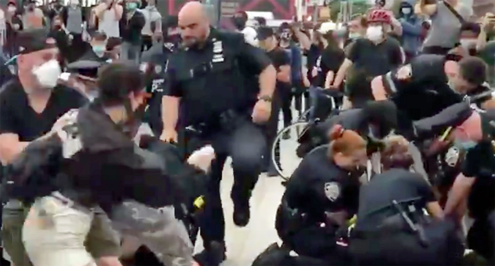 LISTEN: Orders to 'shoot' and 'run them over' heard on NYPD's scanner amid protests